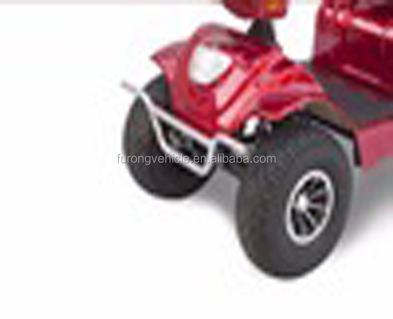 Red four wheels electric mobility scooter spare parts for elder