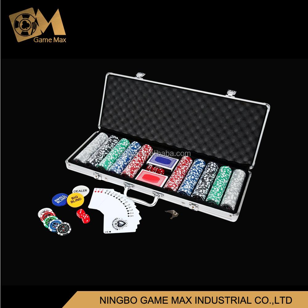 500pcs hologrames sticker chip set/Casino Style Poker Chip Set