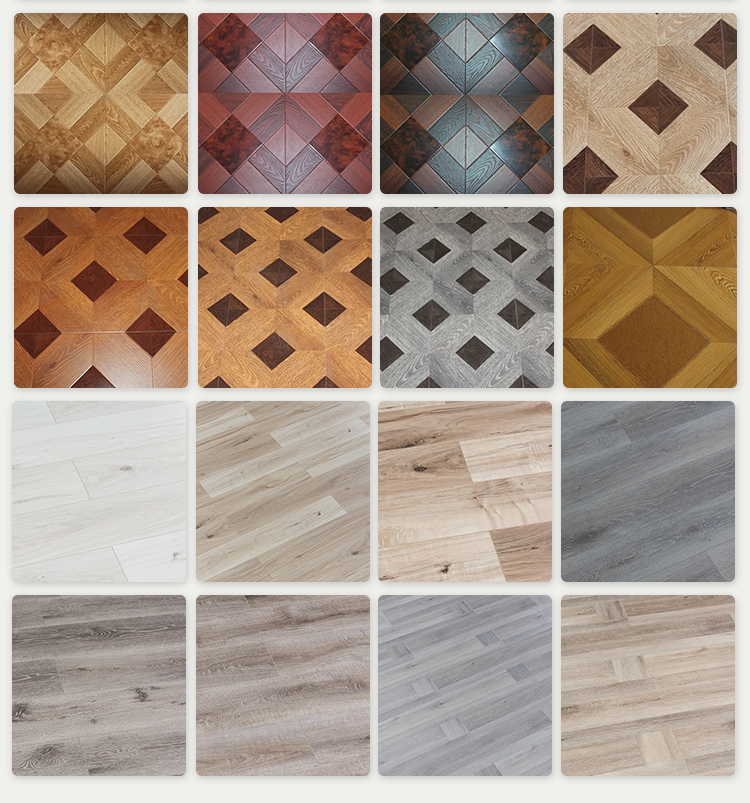 Cheap 12mm HDF brown laminate wooden flooring
