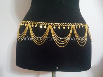 7e0c398b1675f Luxury Body Jewlery Waist Chain 18k Dubai Gold /silver Layered Charm Coins  Traditional Belly Dance Chains - Buy Luxury 18k Dubai Gold Body ...