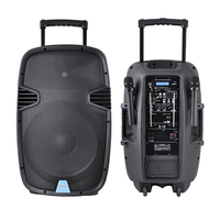 Accuracy Pro Audio PML15AMFQ-V2BP 15'' 100W 12V Outdoor Rechargeable Active Trolley Speaker With Wireless Mic