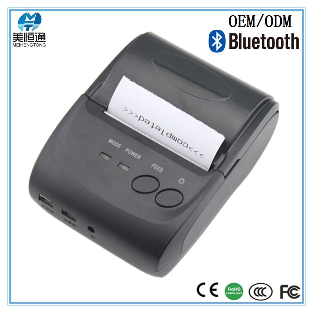Hot sale! small mobile bluetooth thermal printer for windows android phone MHT-5802