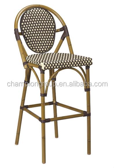 caa de bamb de aluminio silln colorido de bamb y mimbre sillas as