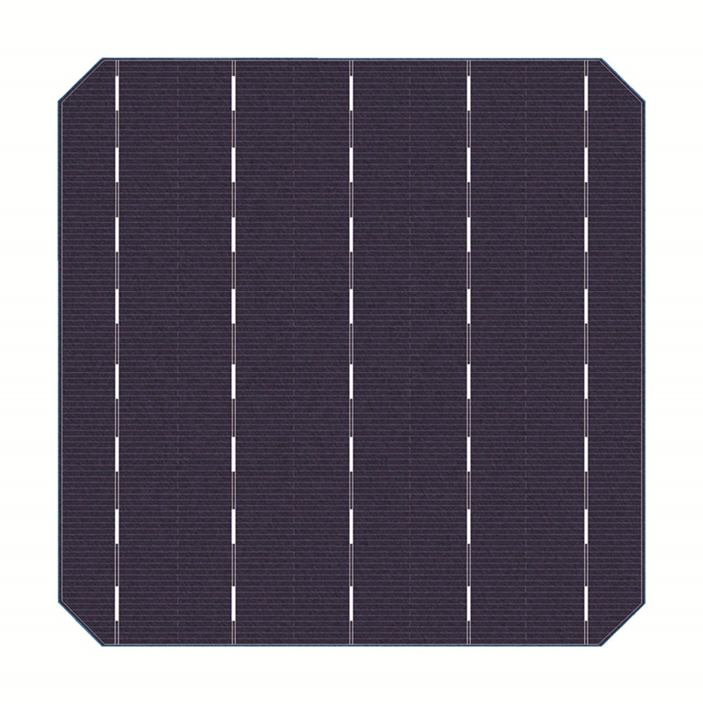Monocrystalline Silicon Solar Cells 156.75 x 156.75mm Solar Cell For Photovoltaic Mono Solar Panel