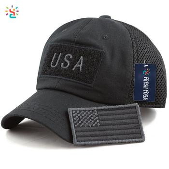 Low profile gorras baseball cap American flag hat tactical operator patch  hat mesh back cotton cap 392a12f26b4