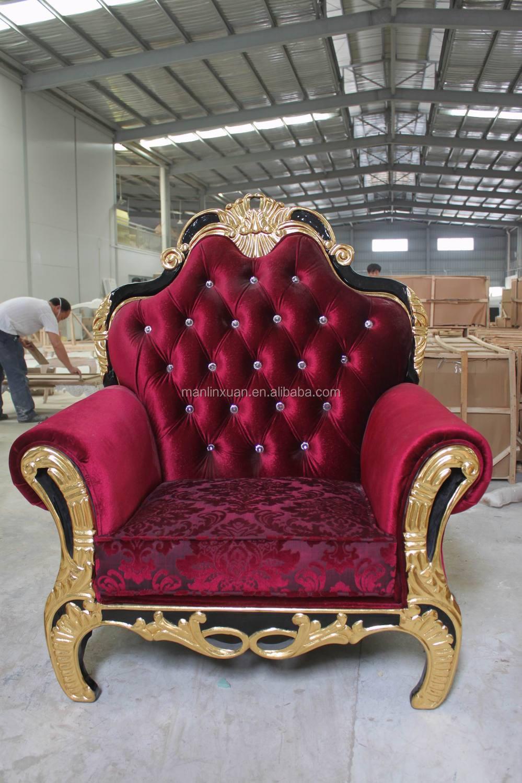 Royal Design Carved Arm Sofa Chair Xy0835