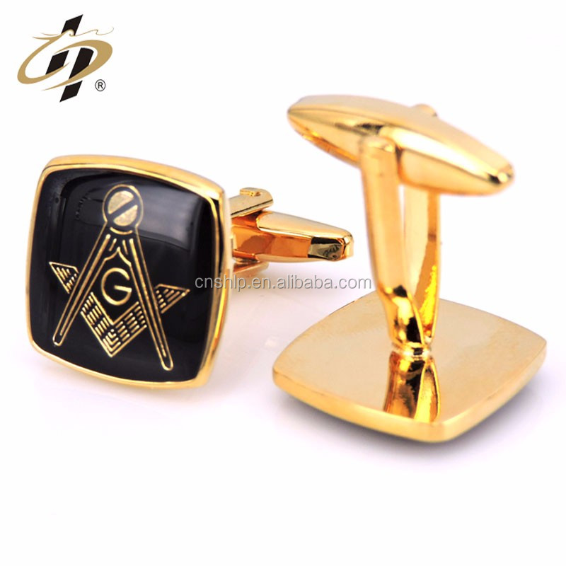 ShuangHua New custom engraved fashion batman logo metal cufflinks for men