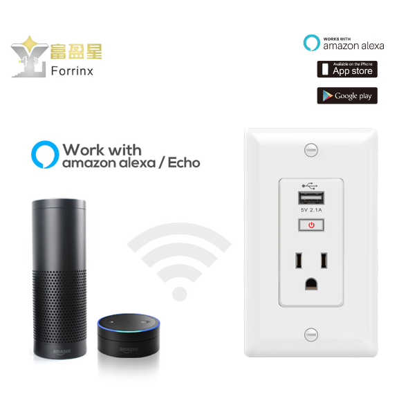 Forrinx SH-09 Electrical 3-pin Wi-Fi wall pop electrical plug socket