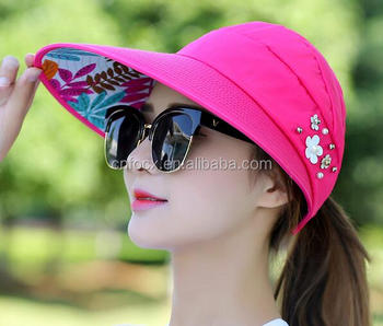 Women Ladies Summer Outdoor Anti-UV Beach Sun Hat   Summer Lady Hat    foldable bdd5d777a5d