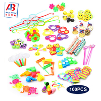 Amazon Hot Selling 100PCS Party Bag Fillers Kids Party Favors Toys Assorted for classroom