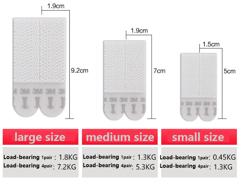3m Command Small, Medium and Large Refill Strips