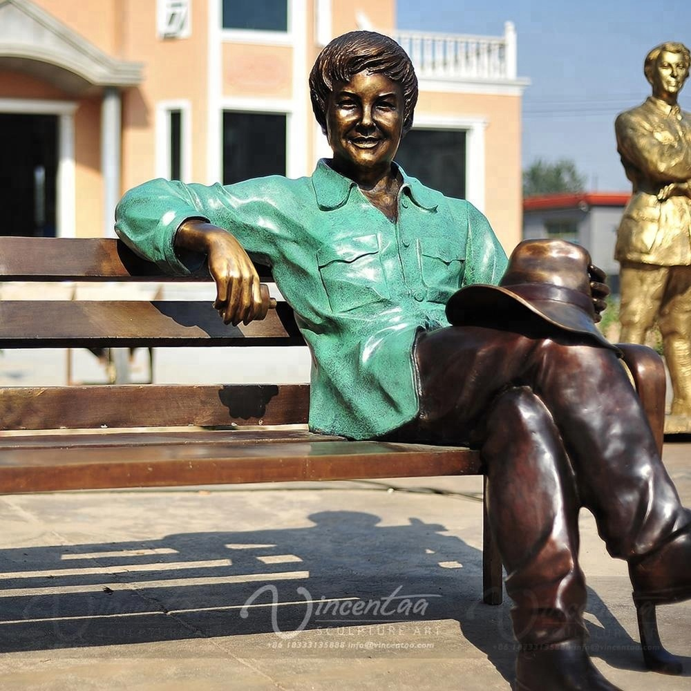 Custom Reproduction Outdoor Life Size Bronze Sculpture
