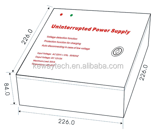 intelligent backup uninterrupted power supply 3a 12v dc