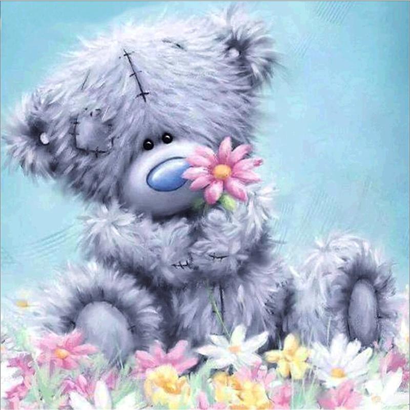 Открытки юбилеем, спокойной ночи цветы картинки мишки