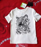 Liquidation Clearance Wholesale Cotton Kids Boys White Printed T Shirt