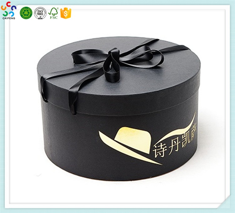 Black Empty Custom Storage Printed Round Hat Box Wholesale Buy