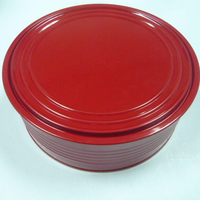Round tin container, Cosmetic tin box