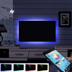 Bluetooth controlled TV Monitor Bias Lighting Backlight Kit USB powered Multi Color 5050 LED Mood Background Accent Lights Strip