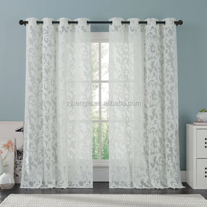 white voile lace curtain for living room