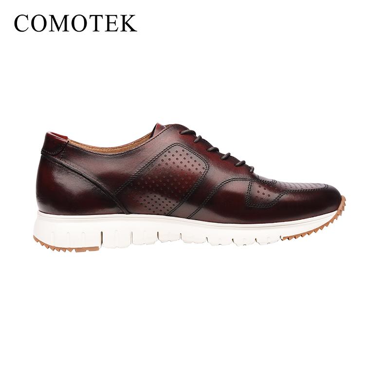 3072f9443 مخصص جديد تصميم رجل الرياضة الأحذية الجلدية أحذية رياضية كاجوال المصنعين  جلد أصلي للرجال حذاء رياضة