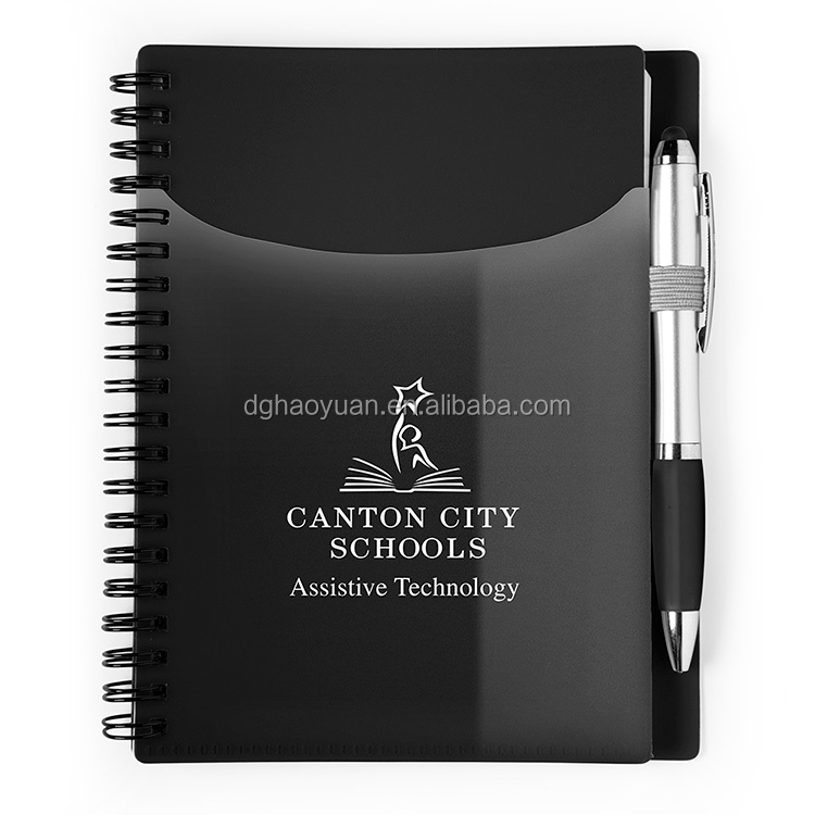 Custom promotional business card holder spiral notebook with pen for custom promotional business card holder spiral notebook with pen for office supplies wholesale colourmoves Gallery