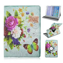 360 Rotary Beautiful Chinese Flowers Stand Folio PU Leather Tablet PC Cover Case For Samsung Galaxy Tab A 9.7 T550+stylus