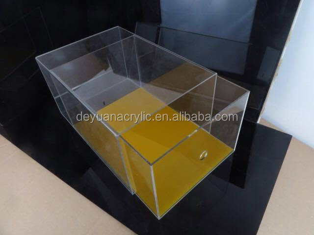 Acrylic Sliding Lid Box Acrylic Storage Boxes With Lid Wholesale Plexiglass  Display Box