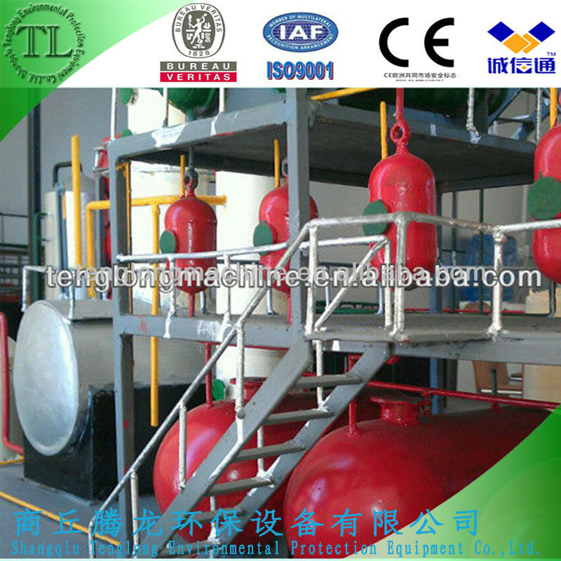 2014 Newest Design Continuous Waste Engine Oil into Diesel Distillation Machinery with BV&ISO&CE