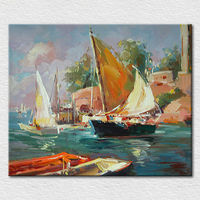 Hand Painted Palette Knife seascape Oil Painting On Canvas