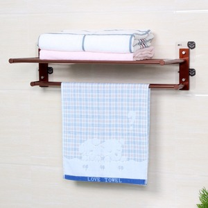Bathroom Plastic Extension Single Towel Rack Chrome Towel Shelf Rack