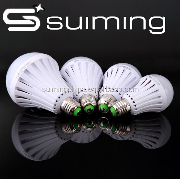 SUIMING 2016 hot sale white/yellow rechargeable battery for led 9W emergency lighting <strong>bulb</strong>
