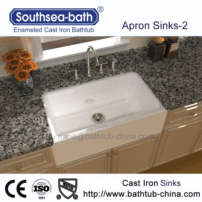 Used Apron Front Cast Iron Kitchen/bathroom Sink
