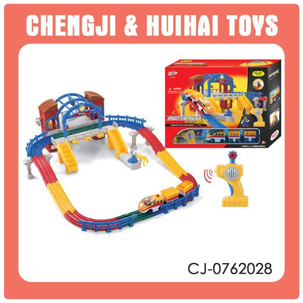 Hot racing 3 channel kid remote control toy toy train track playset for sale
