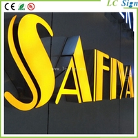 LED resin wall letter sign for mobile shop name resin wall mounted letter sign