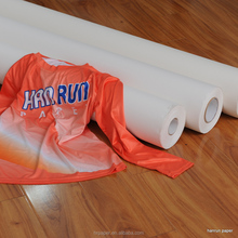 "44""(1118mm) Roll Size 100gsm Full Sticky Sublimation Transfer Paper special for sportswear"