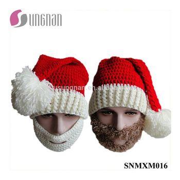 Kerst Hand Geweven Creatieve Hoed Kerstman Baard Haak Cap Buy