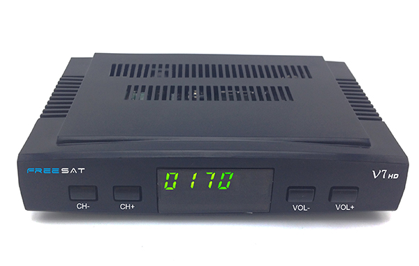 High quality mini freesat v7 hd satellite receiver hd world tv receiver biss key cccam powerVu