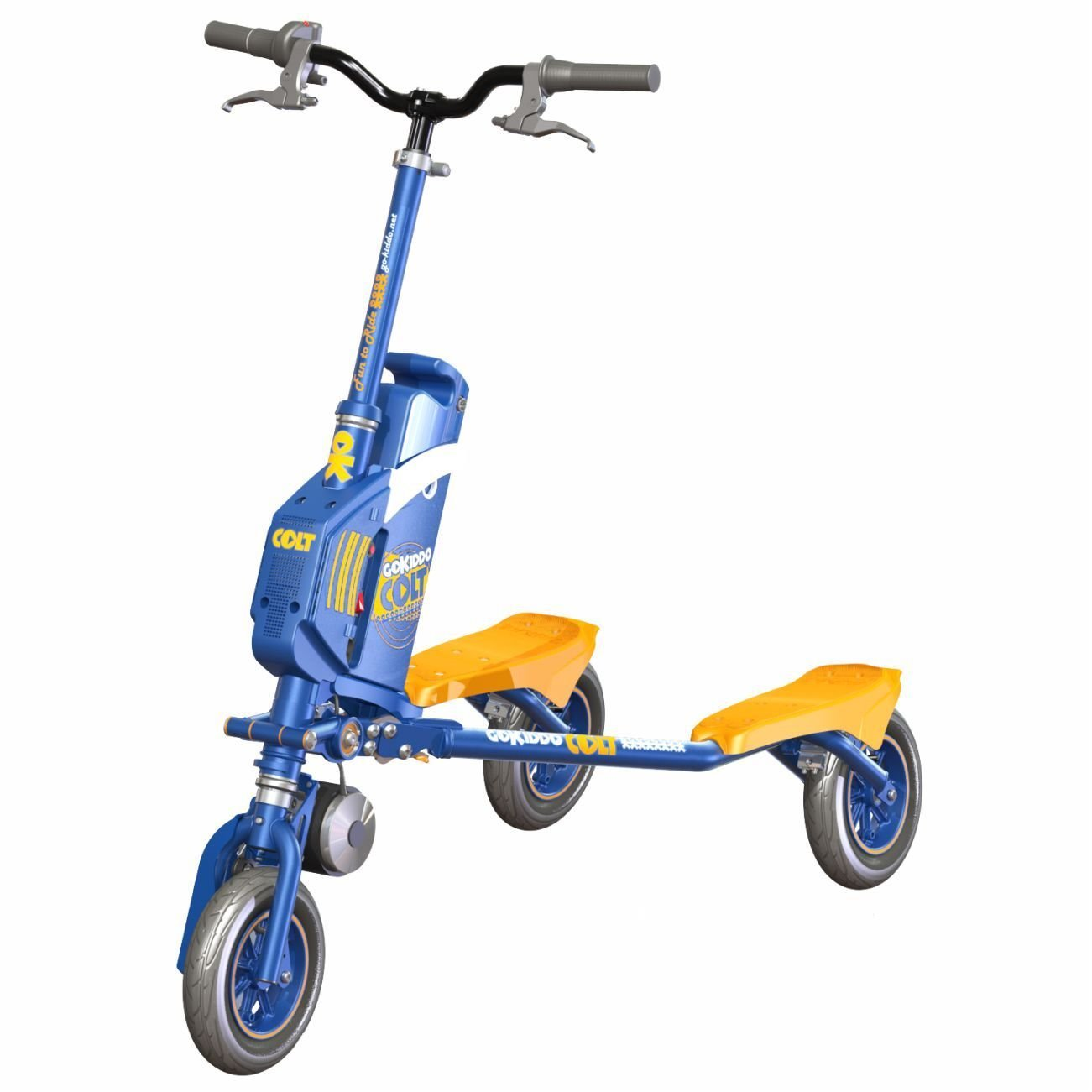 Go-Kiddo COLT Electric Carving Scooter, Blue