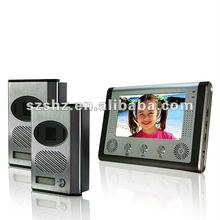 Hot selling 7'' colour wired video door phone commax for villa, video door bell that can adjust camera angle