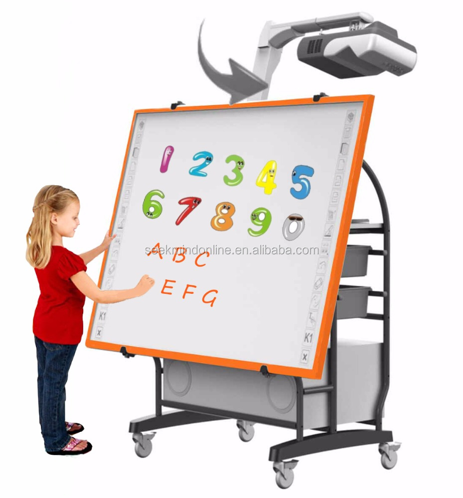 Interactive Kids Education Solution with Kids application software and IR Colorful whiteboard