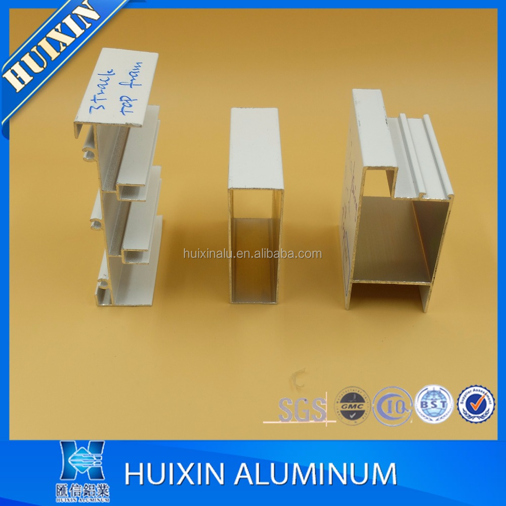 6000series Anodized silver aluminum extruded alloy profile cabinet