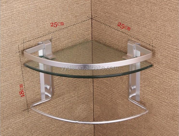 1600a aluminum single corner glass shelf with towel bar bathroom glass corner shelves tempered glass 8mm