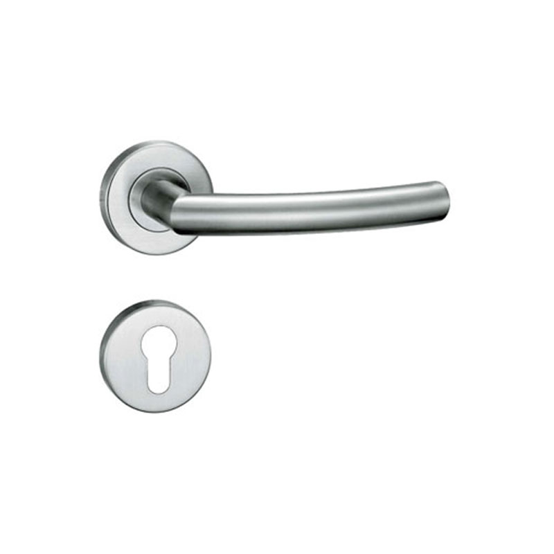Luxury Latest stainless steel residential interior tube lever high quality door handle <strong>hardware</strong>