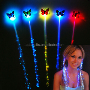 plastic party favor girl child hair decoration new year butterfly led flashing hair clip