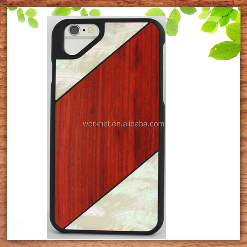 Amazon China Factory Natural Sea Shell Wood Cell Phone Case For ...
