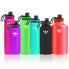 Custom Color 6 Volumes Vacuum Insulated SS304 Stainless Steel Water Bottle with Insulated Spout Lid
