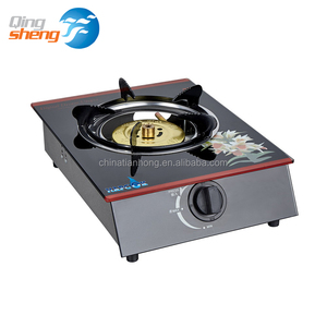 Hot sale Home kitchen Tempered glass single burner Energy saving gas cooker