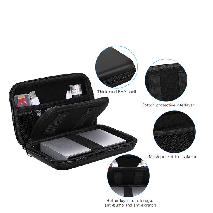 Çoklu EVA darbeye dayanıklı sabit disk taşıma çantası durumda harici güç banka kablosu aksesuarları çantası