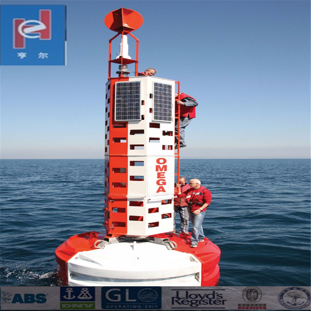 Light buoy into water outport for seal