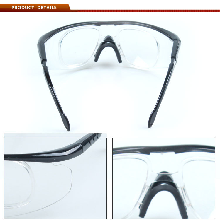 High level hospital safety glasses double thickness lens anti fog safety glasses